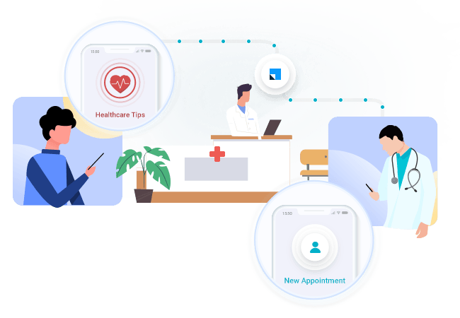 Healthcare marketing automation and patient communication + healthcare CRM