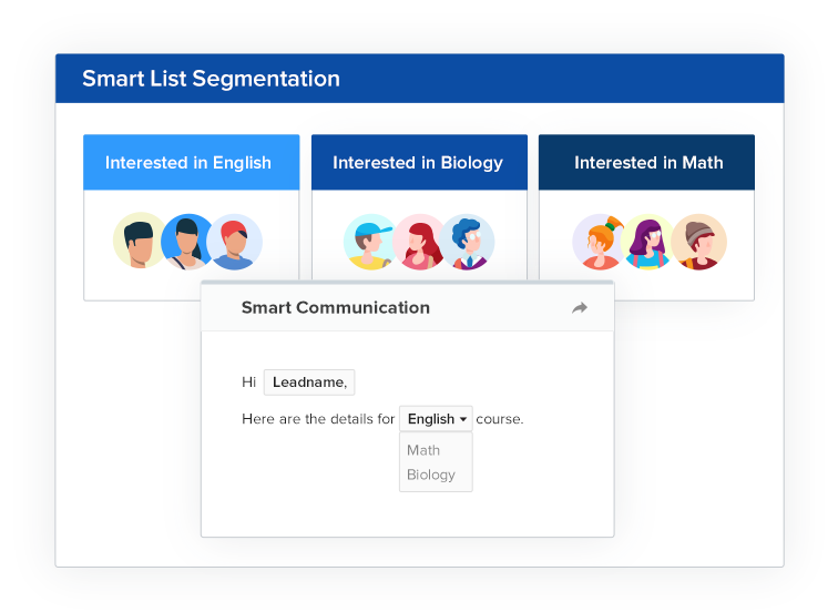 Segment your lists intelligently for targeted communication