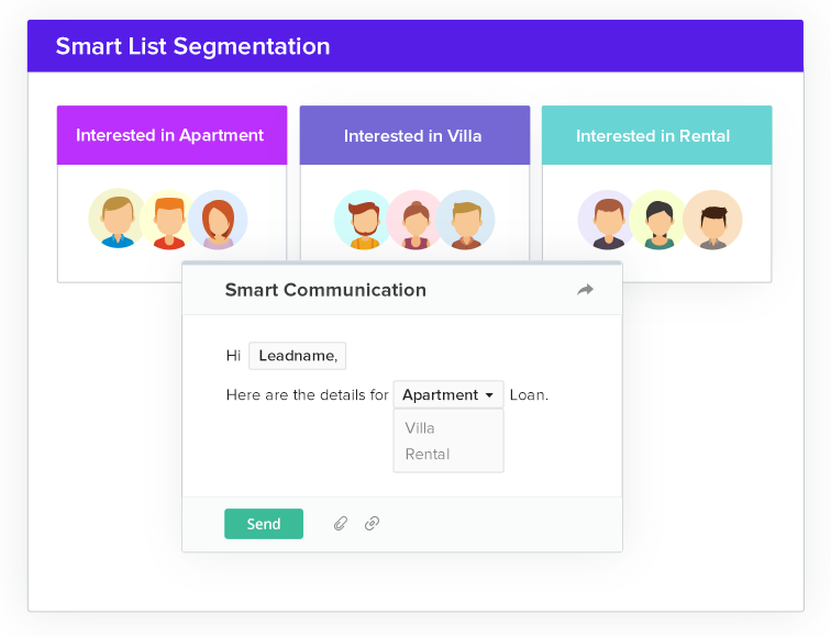 Real Estate CRM - smart segmentation